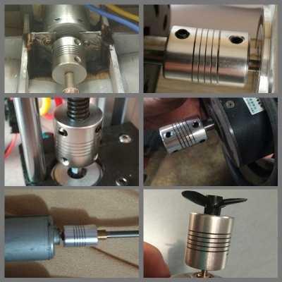 "D19 * L25 אלומיניום גמיש לסת פיר צימוד 3/4/5/6/6.35/7/ 8/10 מ""מ CNC מנוע צעד מצמד מקודדים חריטת מכונת"