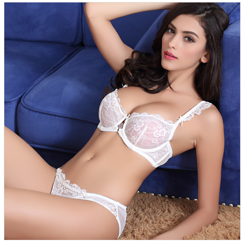 d980a7ac7e7 Femal Intimates French Sexy Lingerie Set Ultra-Thin Bra And Transparent  Panty Women Underwear Lace Bra ...
