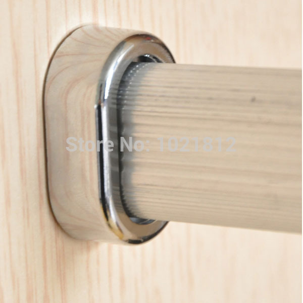 Kitchen Wardrobe Accessories: 2pcs 15mm Chrome Wardrobe Flange Garderobe Tube Holder
