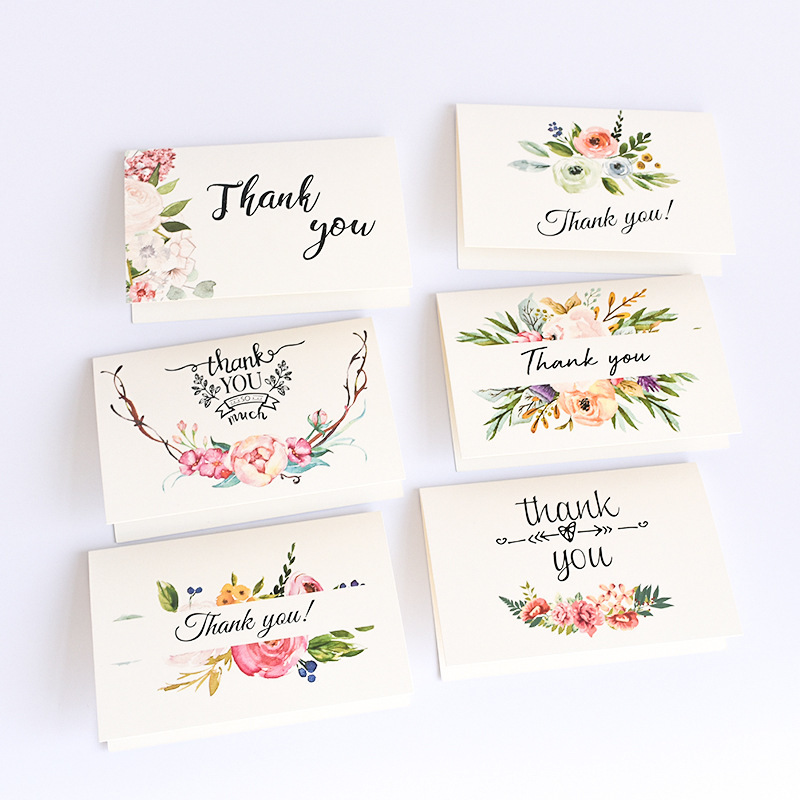 Floral Thank You Card Wedding Thanksgiving Party Gift Card