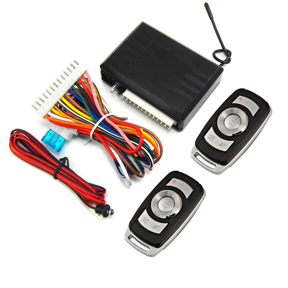 Door-Lock Entry-System Car-Remote-Central-Kit Universal Car Keyless Anti-Theft 12V
