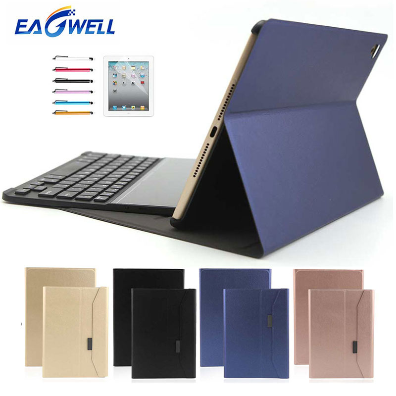 Bluetooth Keyboard Leather Case For New iPad 9.7 2017 2018 for iPad Air Pro 9.7 Tablet Keyboard Case Flip Stand Protective Cover new detachable official removable original metal keyboard station stand case cover for samsung ativ smart pc 700t 700t1c xe700t