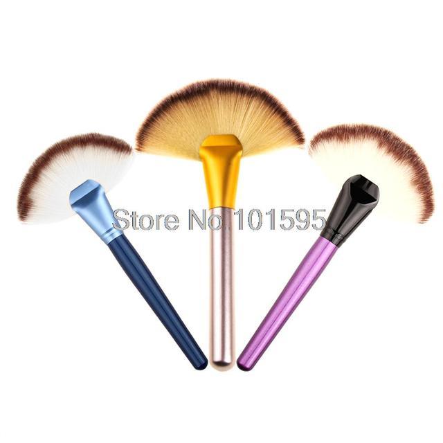 Soft Colorful Makeup Large Fan Brush Blush Powder Foundation Make Up Tool  big fan Cosmetics brushes