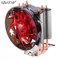 Super Silent CPU Cooler 4PCS Pure Copper Heat Pipes CPU Radiator CPU Cooling Fan For Intel