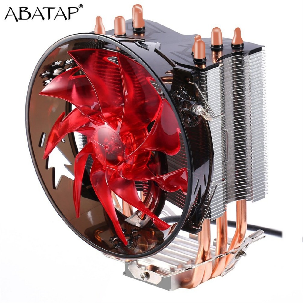 Super Silent CPU Cooler 4PCS Pure Copper Heat Pipes CPU Radiator CPU Cooling Fan For Intel 775/1155/1156/1151/1150/1366 AMD 1 5u server cpu cooler computer radiator copper heatsink for intel 1366 1356 active cooling