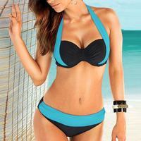 NEW Youthful Style Women Push up Padded Bra Bandeau Low Waist Bikini Swimwear Swimsuit Plus Size High Quality Ladies Underpants