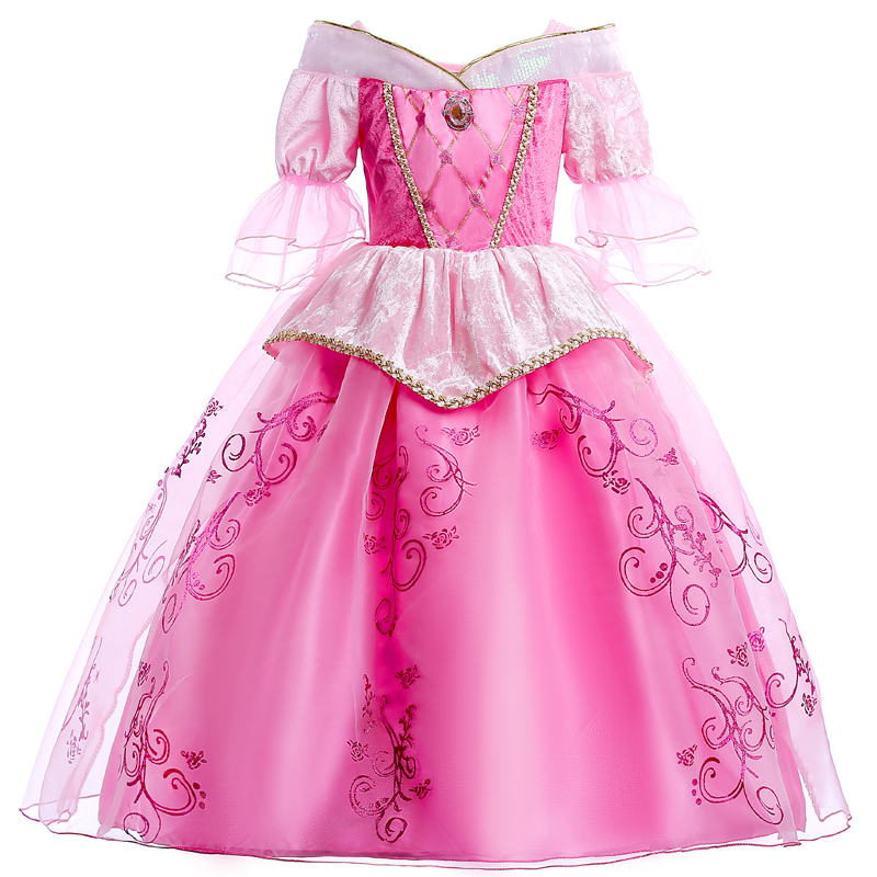 4-10 Years Girls Princess Aurora Girl Dress Layer Mesh Kids Cosplay Dress Up Halloween Costumes Child Girl Tulle Party Vestido halloween costumes clown dressed up acting cute nose red