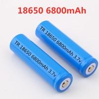 100% Новый оригинальный NCR18650B 3,7 V 6800 мА/ч, 18650 Литий Перезаряжаемые аккумулятор большой емкости GTL evrefire