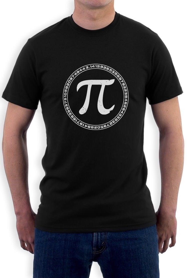 Tee Shirt Sites MenS Short Sleeve Graphic O-Neck Pi Sign Circle Math T-Shirt
