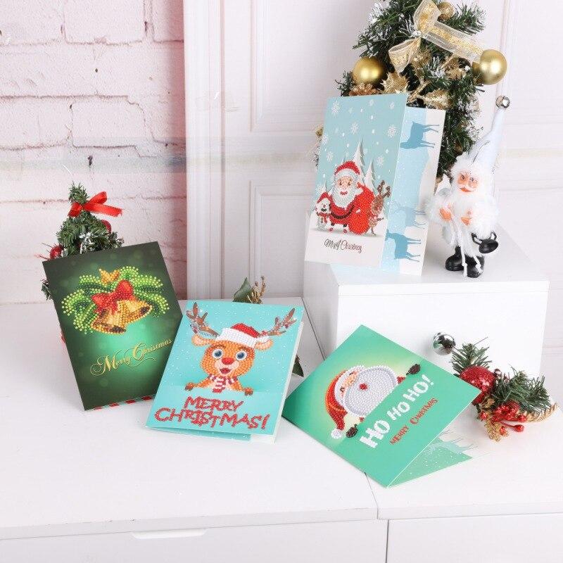 diamond painting christmas greeting card full and round