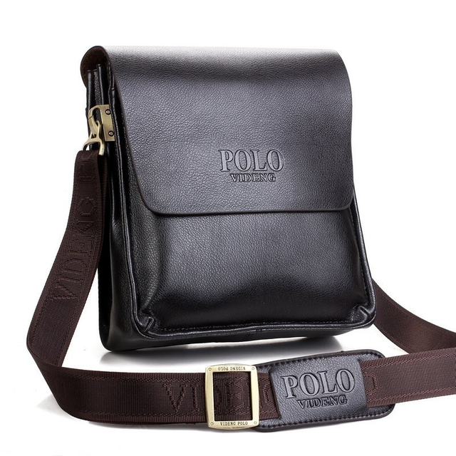 212f80da4d Brand men s POL leather shoulder bags Solid Men Messenger Bag casual  business Crossbody vintage Soft leather polo bag