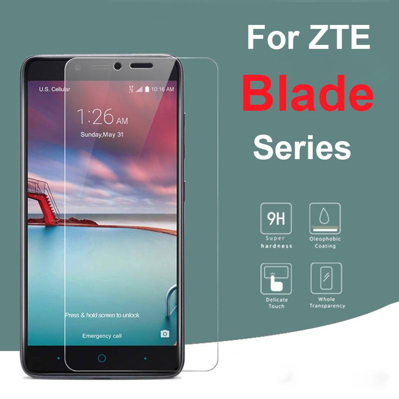 On For Zte Blade V7 Lite Light Glass For Zte Blade A610 Plus A510 A520 A601 A6 Protective Glas Tempered Screen Protector Film 9h