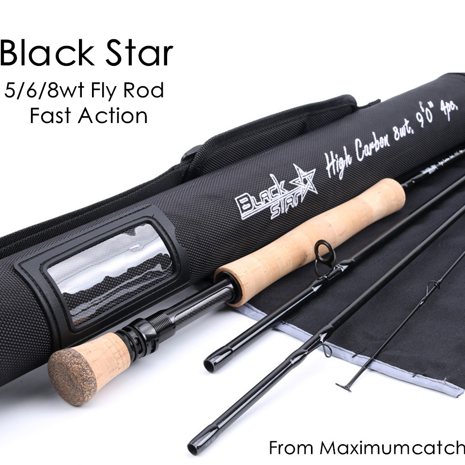 Maximumcatch Top Grade 5wt/6wt/8WT Fly Rod 9FT Carbon Fiber Fast Action Black Star Fly Fishing Rod with Cordura Tube asus p8b75 m lx desktop motherboard b75 socket lga 1155 i3 i5 i7 ddr3 16g uatx uefi bios original used mainboard on sale
