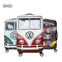 QIAQU мультфильм автомобиль Дорожный чемодан защитный чехол для 18 ''-32'' чемодан дорожные Аксессуары Эластичный Чемодан пылезащитный чехол