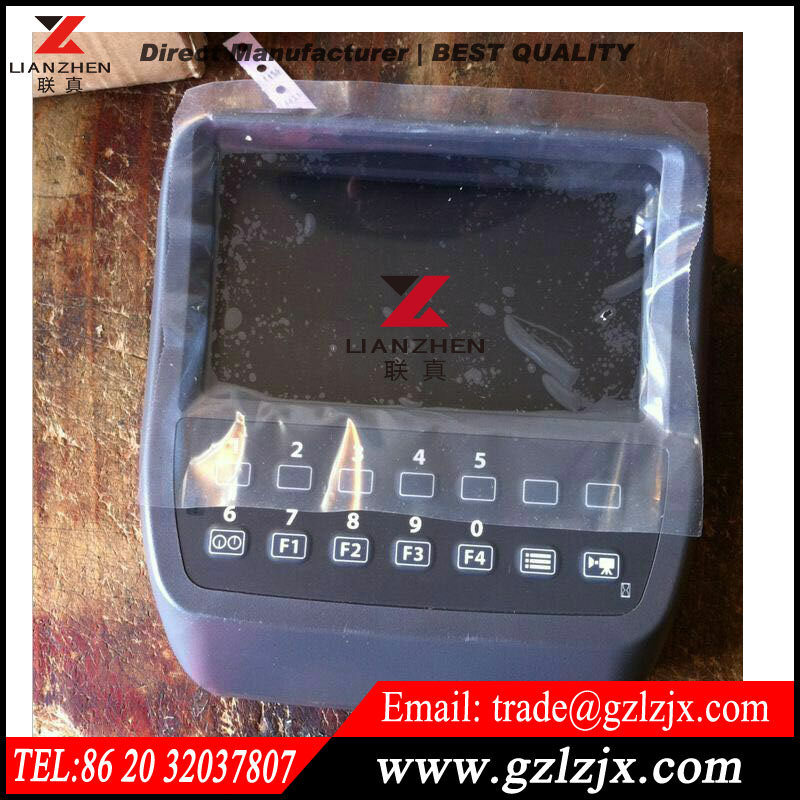 Hitachi ZAX-3 Excavator monitor replacement spare parts English LCD display panel 4652262 e320c 320c excavator monitor connector wire 157 3198 260 2160