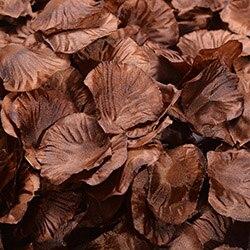 1000 шт./лот, лепестки роз, свадебные, искусственные шелковые цветы, украшения, свадебные, вечерние, цветные, 40 цветов, RP01 - Цвет: coffee
