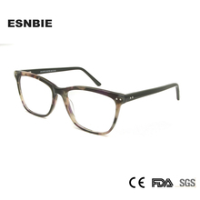 ESNBIE Original Acetate Eye Glasses Frames for Women Brand Design Square Hyperopia Myopia Men Monturas De Lentes Hombre