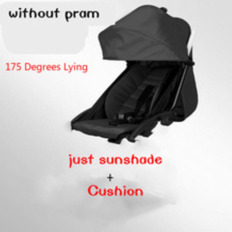 175 darjah Pram Bayi kereta dorong set Mat Seat Pad Seat Cushion Cover Shade Shed Dan Pad Bayi Kereta Api Aksesori Kereta bayi