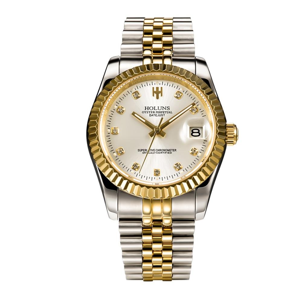 Marque de luxe holuns hommes montres mécaniques rôle montre automatique étanche mode militaire montre bracelet sport mâle horloge-in Montres mécaniques from Montres    2