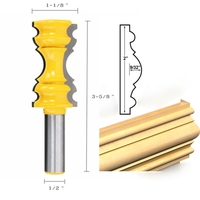 Large Elaborate Chair Rail Molding Router Bit 1 2 Shank Shaker Woodworking