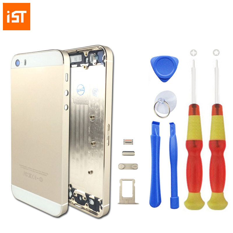 IST Original Phone Housing Battery Cover For iPhone 5 5S 5G Replacement Chassis With LOGO Buttons