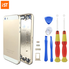 IST Original Phone Housing Battery Cover For iPhone 5 5S 5G Replacement Chassis With LOGO & Buttons & Sim Tray & Free Tools