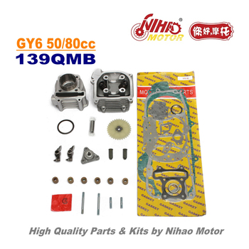 TZ-28A-GY6/80cc(47mm)80cc Cylinder Head Assy 47mm GY6 Parts Chinese Scooter 139QMB Motorcycle Engine Spare Nihao Motor