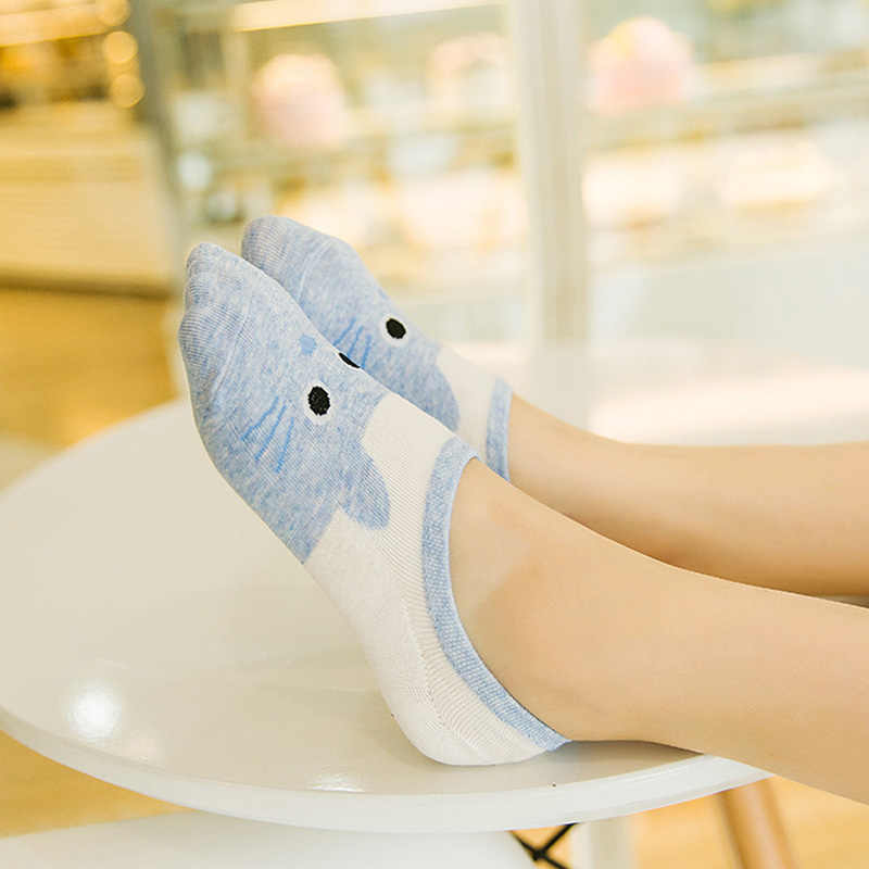 0958c241d5 New Free Shipping Women Candy Color Socks Small Animal Cartoon Short 100%  Cotton Boat Socks Ladies Breathable Casual Funny Sock
