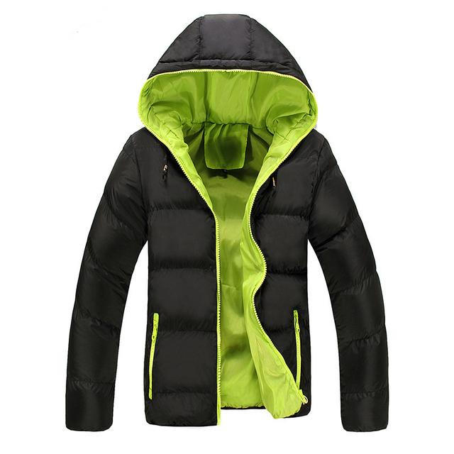 Novo 2016 moda outono e inverno dos homens com capuz de algodão acolchoado Homens jaqueta Casual Outwear Inverno Quente Para Baixo Casacos Casaco Fino homens
