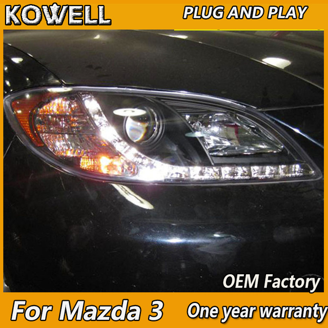 Kowell Car Styling For Mazda 3 Led 2006 2017 Headlight Mazda3 Headlights Drl Lens