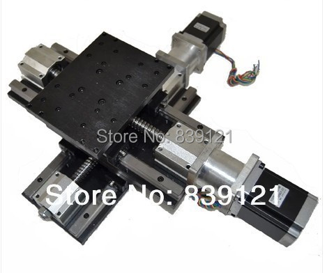 Motorized Stage Circular Guide type 300*300 mm travel x y cross worktable/ stage for cnc wooden router cutter