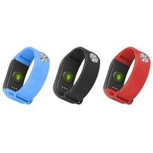 Крови кислородом сердечной Мониторы 0.66 дюймов Bluetooth 4.0 умный Браслет SmartBand Приборы для измерения артериального давления с Шагомер Браслет