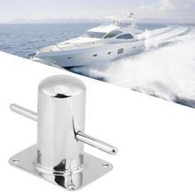 Polished Marine 316 Stainless Steel Boat Samson Post Cross Bollard Mooring Bit for Marine Yacht 120mm*90mm With Heady Duty Base