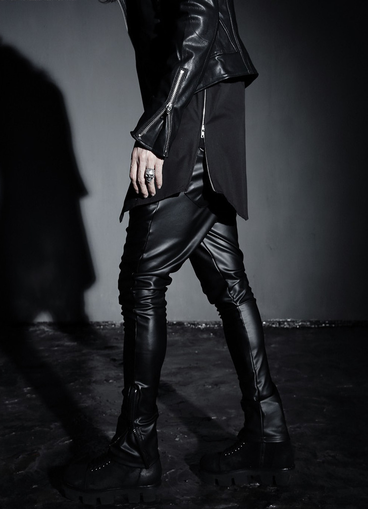 2015 new cool side zipper black shirt men hip hop flannel tee font b tartan b