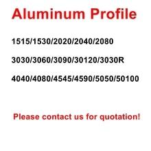 20/30/40/45/50 Series European Standard 3D Printer Silver Oxide Anodized V Slot Linear Rail Aluminum Extrusion Profile