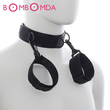 Hand Cuffs Sex Products Erotic Toys Neckcuffs Wrist Restraints Adult Games Sex Toys Bondage Sexy Toys For Couples