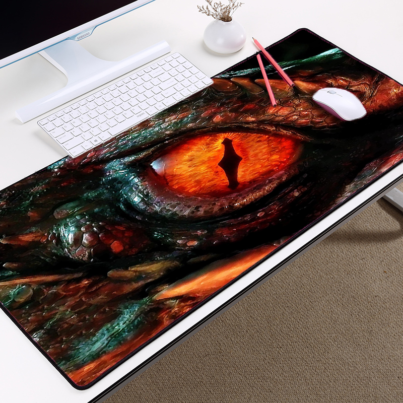 Congsipad Creative Diy customized Cool Images Red Dragons Eye Big Size Table Mat Mousepad Pc Keyboard Soft Desk Mat for LOL CSGO