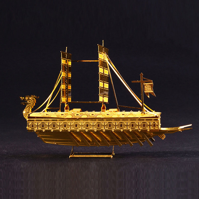 kids toys best 3D model puzzle toys golden ship boats DIY TOY ...