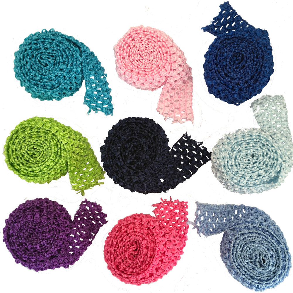 """1.5"""" Crochet Elastic Stretchy Waistband Headband Hairband Band Rolls By Meters For Tutu Skirt 1 meter per Lot"""