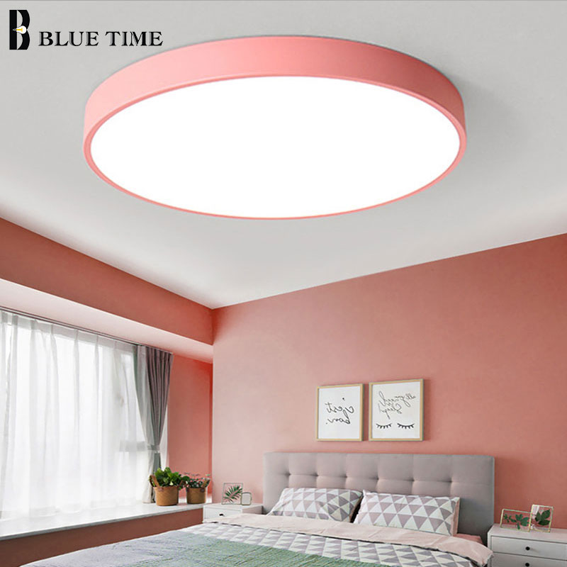 Colorful Fashion LED Chandelier Lighting For Dining Room Bedroom Living Room Circle Modern LED Chandelier Lamp Input AC 110-220V