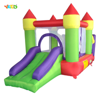 YARD Kids Play Game 3 in 1 Inflatable Trampoline Inflatable Jumping House Air Castle with Ocean Balls Pit and Slide