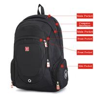 Swisswin Suissewin Swiss Cross Waterproof Laptop Backpack Gear 15 Inches Large Capacity Business Backpack Travel Schoolbag