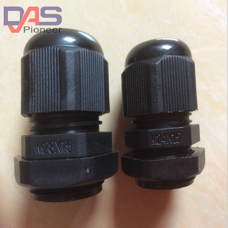 100PCS <font><b>M20X1.5</b></font> for 6-12mm Cable IP68 Waterproof Nylon Plastic Cable Gland Connector image