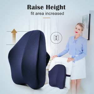 Image 3 - Memory Foam Lumbar Support Back Cushion Firm Pillow for Computer/Office Chair Car Seat Recliner Lower Back Pain Sciatica Relief