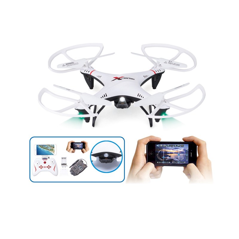 Hot Lishitoys Headless Mode L6039 with 0.5MP WIFI Live HD Camera 2.4G 4CH RC Quadcopter Drone Toy For The Kid Gift jxd rc mini drone with camera hd wifi live camera helicopter radio control tiny quadcopter headless mode remote contol toy