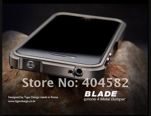 Lowest Price Blade Aluminum Bumper Frame Case Cover For iPhone 4G 4s ultra sleem +Free Shipping