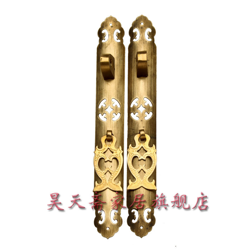 [Haotian vegetarian] Antique straight handle 22cm / Antique Hardware / antique furniture copper fittings HTC-019 [haotian vegetarian] antique copper straight handle antique furniture copper fittings copper handicrafts htc 041