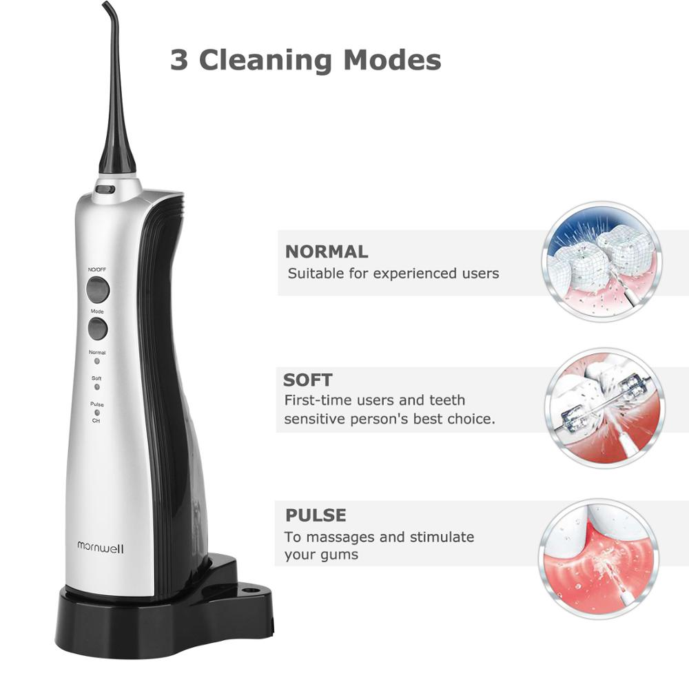 Hydropulseur Rechargeable jet dentaire Portable irrigateur dentaire Dents Clean Oral Soie Dentaire jet d'eau Irrigator - 3