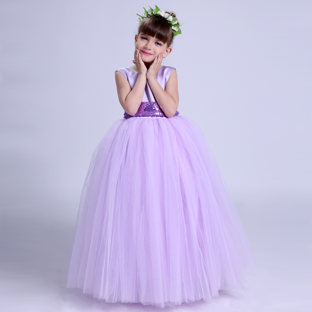 Lavender Flower Girl Dresses With Sequins Belt Girl Wedding Party Dress  Tulle Kids Princess Tutu Dress For Girls Pageant Gowns - aliexpress.com -  imall.com e9e6642ed841