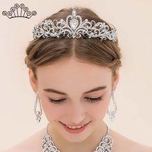 Diademas barrocas de lujo para mujer, Tiaras de corona nupcial de cristal, diadema dorada ligera para mujer, accesorios para el cabello de boda